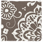Brown Woodblock Floral